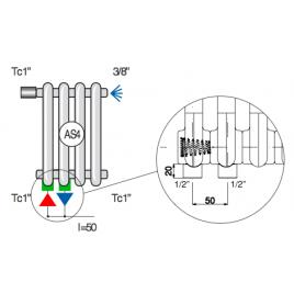 Стальной трубчатый радиатор Cordivari Ardesia 3-556 As4